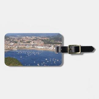 Scenic view of beautiful San Sebastian coastline Bag Tag