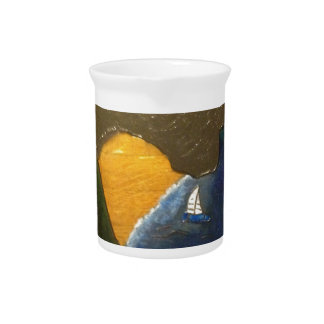 Scenic view of coastal waters in the Mediterranean Beverage Pitchers