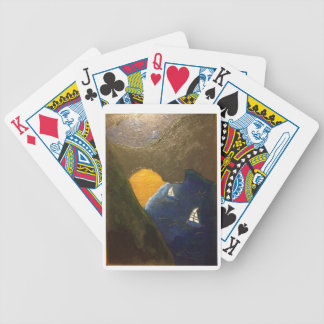 Scenic view of coastal waters in the Mediterranean Bicycle Playing Cards