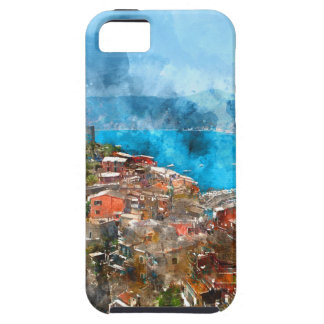 Scenic view of colorful village Vernazza and ocean iPhone SE/5/5s Case