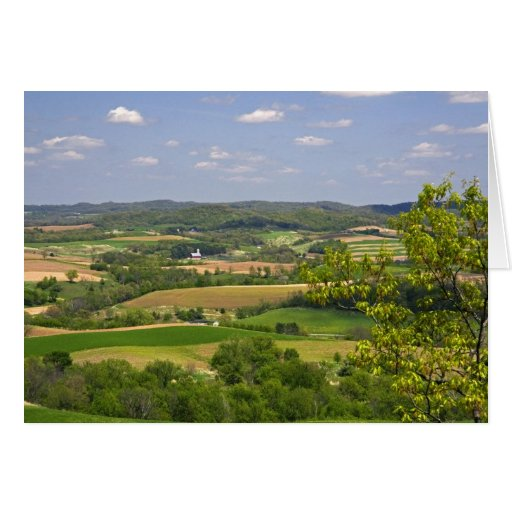 Scenic view of farmland south of Arcadia, 2 Greeting Card