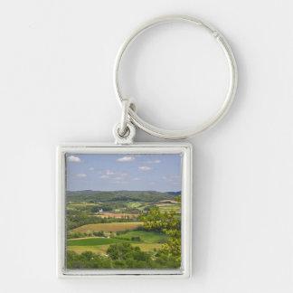 Scenic view of farmland south of Arcadia, 2 Keychain