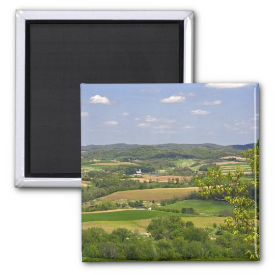 Scenic view of farmland south of Arcadia, 2 Magnet