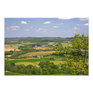 Scenic view of farmland south of Arcadia, 2 Photo Print