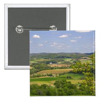 Scenic view of farmland south of Arcadia, 2 Pinback Button