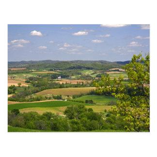 Scenic view of farmland south of Arcadia, 2 Postcard