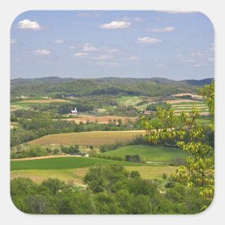 Scenic view of farmland south of Arcadia, 2 Square Sticker