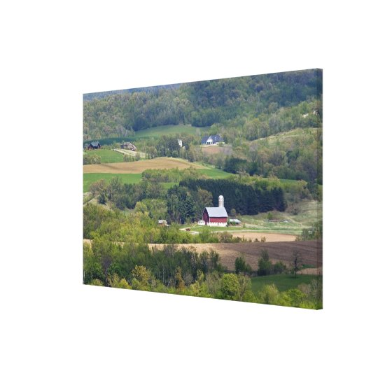 Scenic view of farmland south of Arcadia, Canvas Print