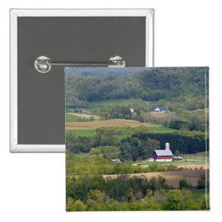 Scenic view of farmland south of Arcadia, Pinback Button