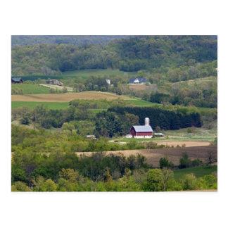 Scenic view of farmland south of Arcadia, Postcard