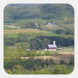 Scenic view of farmland south of Arcadia, Square Sticker