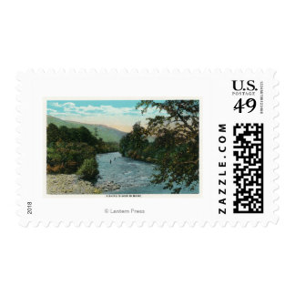Scenic View of Good Fishing Postage