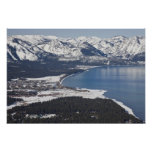 Scenic view of Lake Tahoe, USA Posters