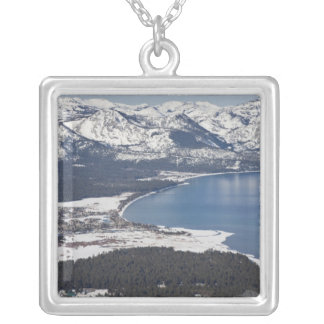 Scenic view of Lake Tahoe, USA Square Pendant Necklace