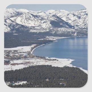Scenic view of Lake Tahoe, USA Square Sticker