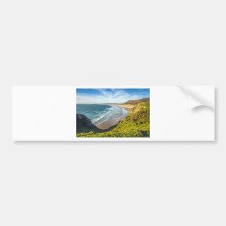 Scenic View of Landscape Against Sky Bumper Sticker