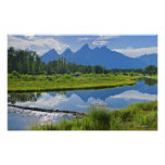 Scenic View of Mountains Poster
