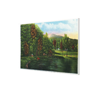 Scenic View of Shadow Lake and Indian Head Canvas Print