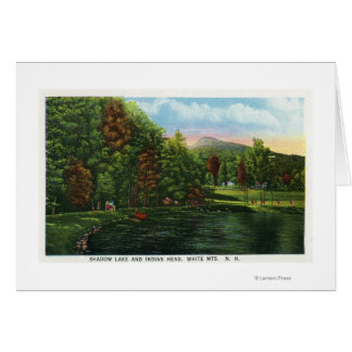 Scenic View of Shadow Lake and Indian Head Card