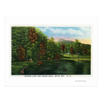 Scenic View of Shadow Lake and Indian Head Postcard
