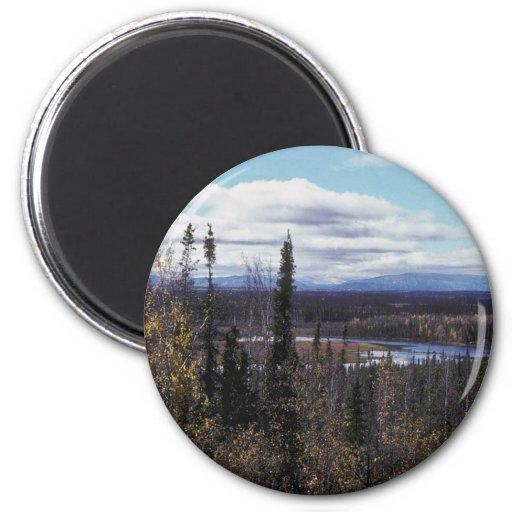 Scenic View of Tetlin National Wildlife Refuge Fridge Magnet