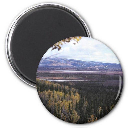 Scenic View of Tetlin National Wildlife Refuge Refrigerator Magnet