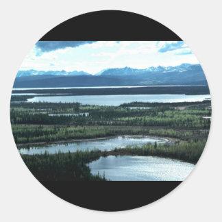Scenic View of Tetlin National Wildlife Refuge Classic Round Sticker