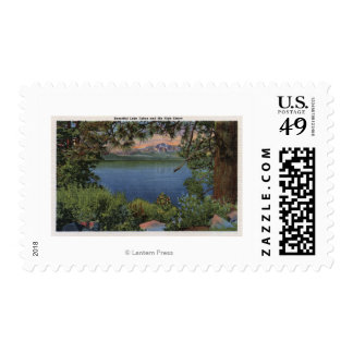 Scenic View of the Lake Postage