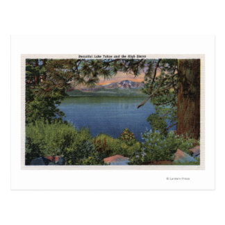 Scenic View of the Lake Postcard