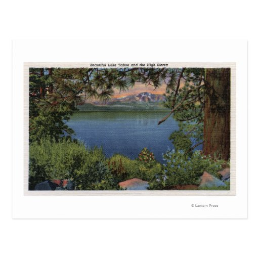 Scenic View of the Lake Postcards