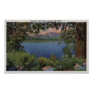Scenic View of the Lake Poster