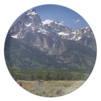 Scenic view of the Teton Range Dinner Plate