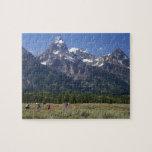 Scenic view of the Teton Range Puzzle
