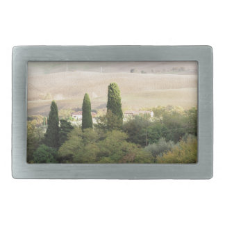 Scenic view of typical Tuscany landscape Belt Buckle