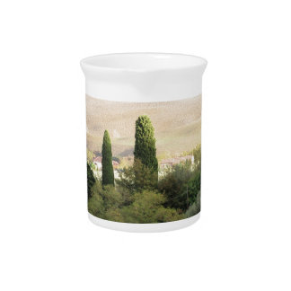 Scenic view of typical Tuscany landscape Drink Pitcher