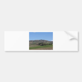 Scenic view of typical Tuscany landscape in winter Bumper Sticker