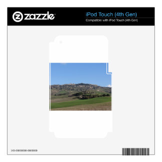 Scenic view of typical Tuscany landscape in winter iPod Touch 4G Decals