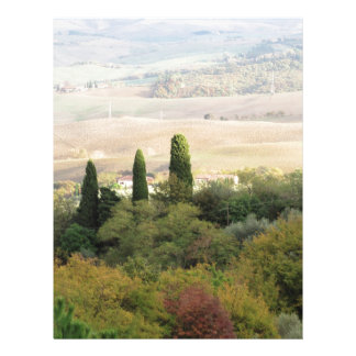 Scenic view of typical Tuscany landscape Letterhead