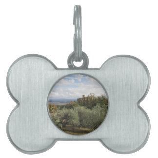 Scenic view of typical Tuscany landscape Pet Name Tag