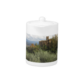 Scenic view of typical Tuscany landscape Teapot