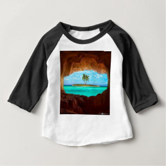 Scenic water and palm trees baby T-Shirt