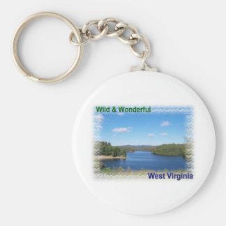 Scenic West Virginia Lake Keychain