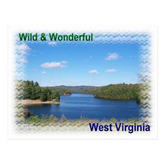 Scenic West Virginia Lake Postcard