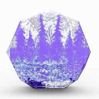 Scenic Winter Purple Forest ART Acrylic Award