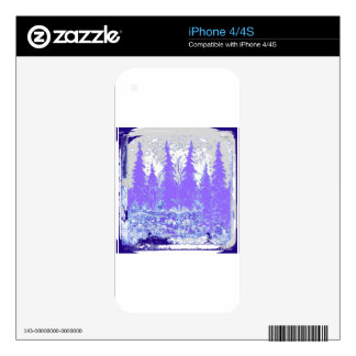 Scenic Winter Purple Forest ART iPhone 4S Decal