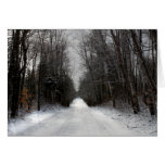 Scenic Winter Trail Greeting Card