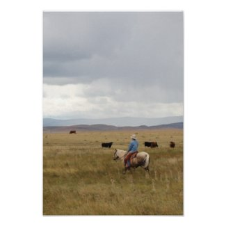 Scenic Wyoming Ranch Poster