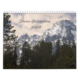 Scenic Yellowstone 2008 Calendar