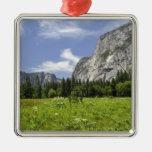 Scenic Yosemite Valley, California Christmas Tree Ornaments
