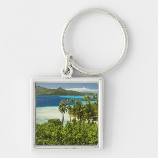 Scenics and grounds of beautiful resort in Bora Silver-Colored Square Keychain